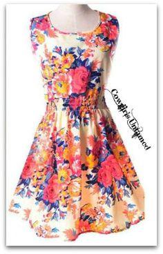 COUNTRY COWGIRL DRESS Floral Chiffon Sleeveless Mini Dress COWGIRLS UNTAMED ~ Fashion For Your Cowgirl Gypsy Rebel Soul www.cowgirlsuntamed.com