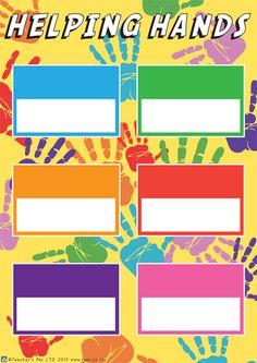 Teacher's Pet - Helping Hands Poster - FREE Classroom Display Resource - EYFS, KS1, KS2, classroom jobs, class jobs, jobs, organisation, organization