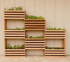 Cool idea for a DIY vertical planter. Perfect for small backyards that don't… Cool idea for a DIY vertical planter. Perfect for small backyards that don't have a lot of space to grow a big garden Plantador Vertical, Vertical Garden Design, Vertical Planter, Wood Working For Beginners, Gardening For Beginners, Backyard Projects, Wood Projects, Backyard Ideas, Simple Projects