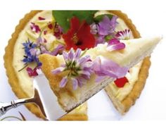 Edible Flowers are a great addition to a plain looking dessert.  Click on article to learn more about edible flowers.