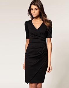 ASOS Wrap Dress in Ponti Pencil