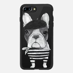 Casetify iPhone 7 Case and Other iPhone Covers - French Bulldog by Barruf | #casetify #frenchie #dog #iphone