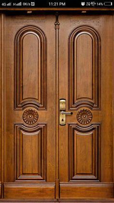 Front Door Wooden Stuff In 2019 Wooden Door Design Main Modern Entrance Door, Main Entrance Door Design, Door Gate Design, Room Door Design, Modern Front Door, Door Design Interior, Entrance Doors, Home Design, Wooden Double Doors