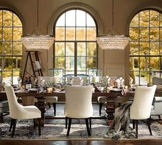 """Banks Extending Dining Table 