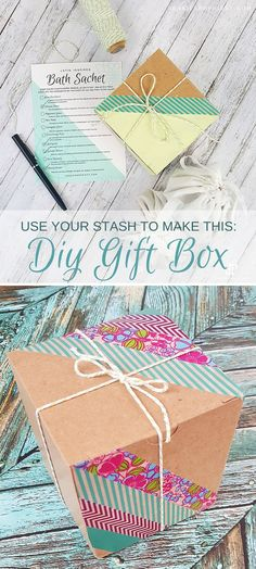 DIY Upcycled Gift Box   What a fun way to make your gift stand out by using budget-friendly materials!