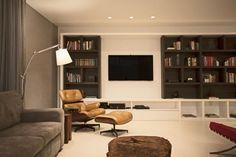 The LRF Apartment designed by Paula Martins Arquitetura 3 homes inspirations and more visit: www.yourhouseidea.com #livingroom #houseidea #housedesigns #housedesign #livingroomdecor #livingroomdesign #interior