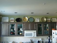 Plates/Serving Dishes On Top of My Cabinets