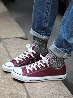Oh how I love converse with cute socks