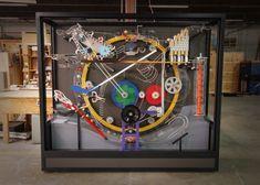 Interactive Museum, Interactive Display, Interactive Installation, Interactive Art, Hermes Window, Exibition Design, Rube Goldberg Machine, Kids Toy Store, Marble Machine