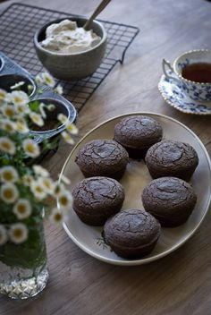 Pear Gingerbread Muffins (Egg + Gluten + Dairy Free) - Rusty Skillet Blog