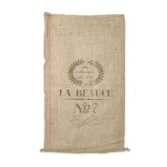 French Grain Sack Reproduction | OnlineFabricStore.net  There are plain grain sacks, which can be stenciled, as well.