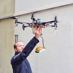 Fantastic new burger delivery service by drone: @ottosburger Prime Air. Available exclusively in Hamburg. Check it out now! by bosch