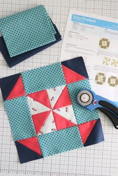 Riley Blake Quilt Block Challenge Quilt Block Patterns, Pattern Blocks, Quilt Blocks, Polka Dot Chair, Pinwheel Quilt, My Sewing Room, Mini Quilts, Pinwheels, Spring Cleaning