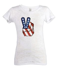 Look what I found on #zulily! White American Pride Burnout Tee - Women by CafePress #zulilyfinds
