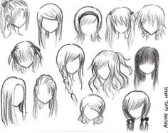 How to draw anime girl hairstyles. How to draw anime girl hairstyles step by step. How to draw anime girl hairstyles. How to draw cute anime girl hairstyles. How to draw anime girl hairstyles ponytail. Drawing Tips, Drawing Reference, Drawing Sketches, Drawing Tutorials, Drawing Ideas, Hair Reference, Sketching, Drawing Lessons, Drawing Techniques