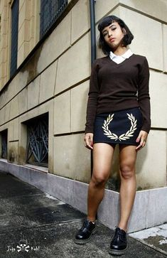 Image result for modern skinhead girl Skinhead Girl, Skinhead Fashion, Skinhead Style, Mod Fashion, Girl Fashion, Womens Fashion, Fred Perry, Skin Head, Mod Girl