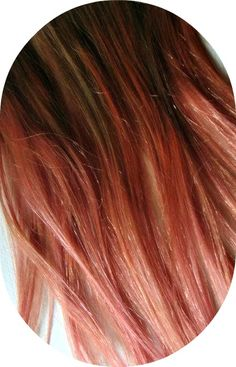 I would do it with red, but the concept is still the same:: brown and peach hair |