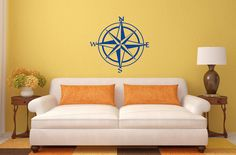 Compass laptop, wall decal.  Vinyl decals made from high quality vinyl material. Easily applied to walls, doors, glass, mirrors, laptops, cell phones, table tops, tablets, vehicles and more! Choose the height and color of sticker !!! All colors are matte.  All decals are removable but not reusable. Picture is for reference only and may NOT accurately represent the actual size.  - Test decal and application instructions included.  Additional items in the same package ships for free.  Need…