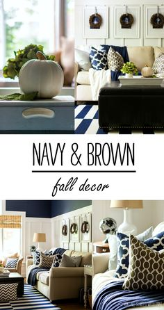 Fall In The Living Room: Navy & Brown - It All Started With Paint