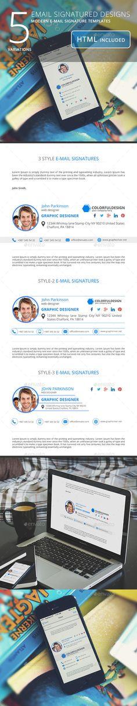Email Signature Templates - Miscellaneous Social Media