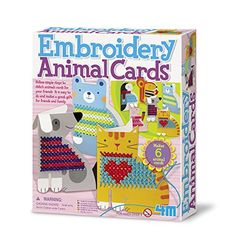 4M Embroidery Animal Cards Kit *** Want to know more, click on the image.-It is an affiliate link to Amazon. #CraftKits