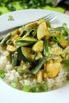 Obiad w 30 minut: Zielona potrawka curry