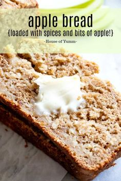 Factors You Need To Give Thought To When Selecting A Saucepan Best Apple Bread Bursting With Chunks Of Apple And Lots Of Sweet Spices In Every Bite Using Apple Sauce Makes This Bread Tender And Loaded With Apple Flavor. Apple Desserts, Köstliche Desserts, Delicious Desserts, Dessert Recipes, Desserts With Apples, Plated Desserts, Quick Bread Recipes, Cooking Recipes, Loaf Recipes