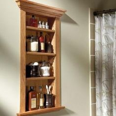 Build a Wall Niche - I'm thinking a little smaller next to the back door (key/sunglasses drop point). Oh #modern Furniture #Furniture idea #Furniture| http://furniture-inspiration.hana.lemoncoin.org