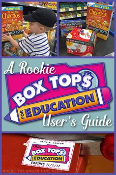 A Rookie Box Tops for Education User's Guide! Everything you need to know about saving money for your kid's school! | Where The Smiles Have Been #sponsored #BTFE
