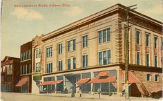 View of The Lawrence Block in Athens, Ohio in 1912.