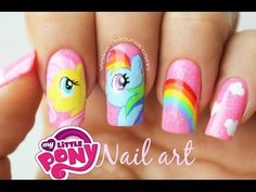 Decoración de uñas my little pony - My Little pony nail art tutorial - YouTube
