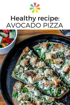 This quick avocado pizza from Fit Men Cook calls for mashed avocado flavored with sea salt and black pepper. You can also flavor with a squeeze of lemon or include a sprinkle of chili pepper flakes for heat. #avocadopizza #everydayhealth | everydayhealth.com