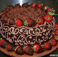 chocolate & strawberries...