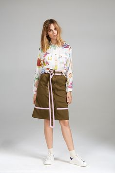 POCKET SHIRT AND CONTRAST SKIRT Contrast, Women Wear, Pocket, Contemporary, Skirts, Collection, Skirt, Gowns