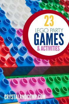 Lego Birthday Party Game Ideas--Wish I had seen this before our daughter's Lego party, but these will be fun to do with the girls any day!