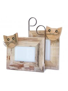Crafts Country Cat Photo Frame by Centrodelmutamento on Etsy Cat Crafts, Animal Crafts, Home Crafts, Diy Pallet Projects, Wood Projects, Woodworking Projects, Picture On Wood, Picture Frames, Pallet Barn