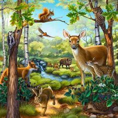 Forest animal puzzle illustration by anne wertheim directory.
