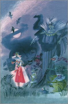 The Little Witch by Otfried Preussler. Illustrations by Nika Goltz  Ника Гольц, Отфрид Пройслер