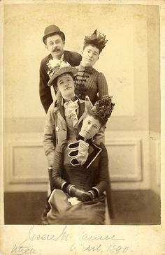 Portrait with Hats. Utica (NY), 1890.