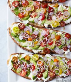 This tomato avocado sandwich is gorgeous!