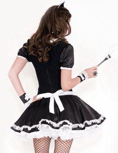 Halloween Dress, Halloween Costumes, Maid Costumes, French Maid Costume, Buy Bra, Gingham Dress, Clubwear, Skater Skirt, Spicy