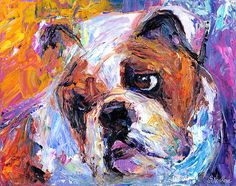 Bulldog dog painting Svetlana Novikova
