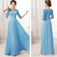 Bridesmaid Dresses Wholesale Formal Bridesmaid Dresses Sexy Chiffon Long Maids Honor Bridesmaids Dress With Lace Pink Champagne Royal Blue Gowns 2015 Sleeves For Cheap Bridesmaids Dresses Long From Myweddingdress, $86.92| Dhgate.Com