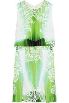 Peter Pilotto MT printed stretch-silk mini dress | NET-A-PORTER
