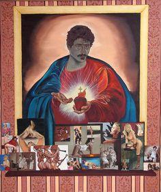 METAFORA DI UN AUTORITRATTO oil on canvas cm. 100x120 product 1989