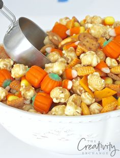 Recipe for sweet and salty fall snack mix.  So good!