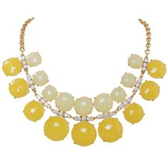 Humble Chic Lemon Drop Necklace...Dress up a casual tee with a bright statement necklace