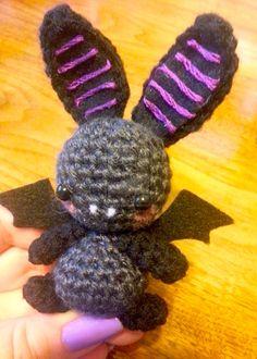 Wee Lil Kawaii Halloween Bat Amigurumi by Spudsstitches.deviantart.com on @deviantART