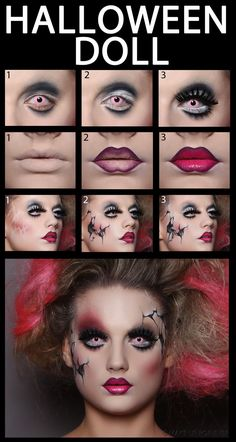 Halloween makeup - should i ever need it in the future | See more about Halloween Doll, Halloween and Doll.