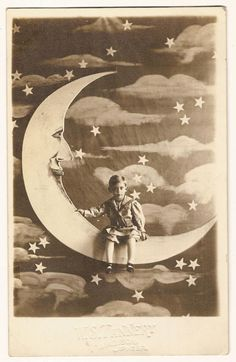 Small child in paper moon portrait …They make me wear these clothes